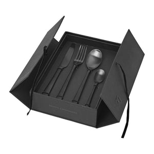 Hune Matt Black Cutlery Set
