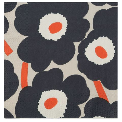 Disposable Lunch Napkin - Unikko Linen - CRAVE WARES