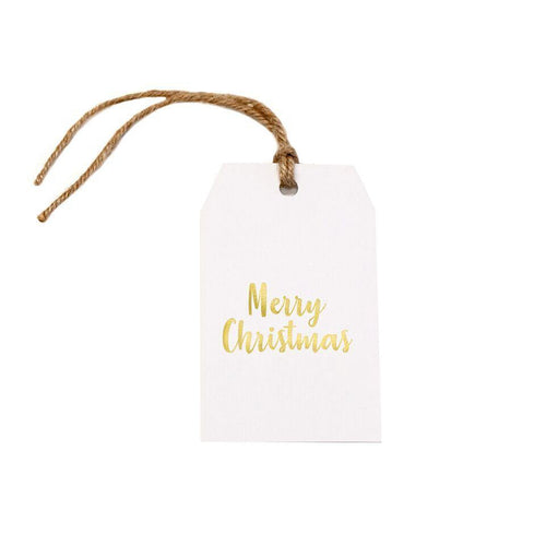 Gift tag - Merry Christmas - Gold Foil