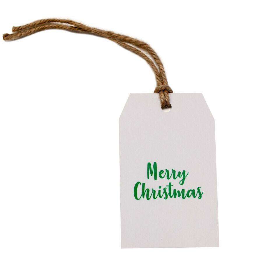 Gift tag - Merry Christmas - Green