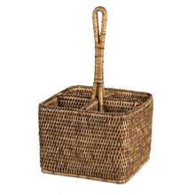 Rattan Cutlery Caddy - CRAVE WARES