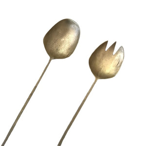 Paros Salad Servers - Brass - CRAVE WARES
