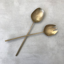 Paros Salad Servers - Brass