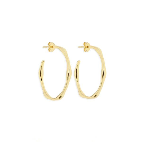 Storm Gold Hoop Earrings