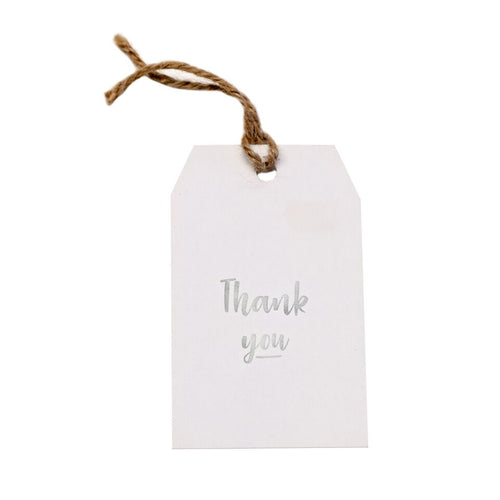 Gift tag - Thank You - Silver Foil