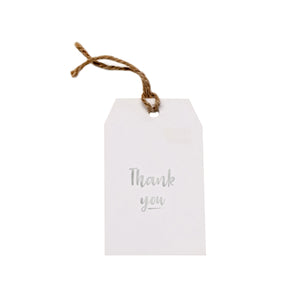 Gift tag - Thank You - Silver Foil - CRAVE WARES