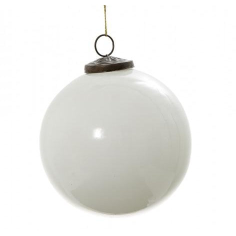 Large White Bauble