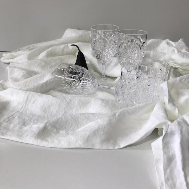 Soft Linen Tablecloth - White
