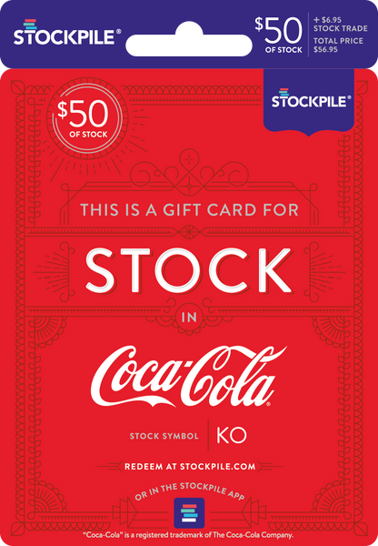 Gift Card for Coca-Cola Stock