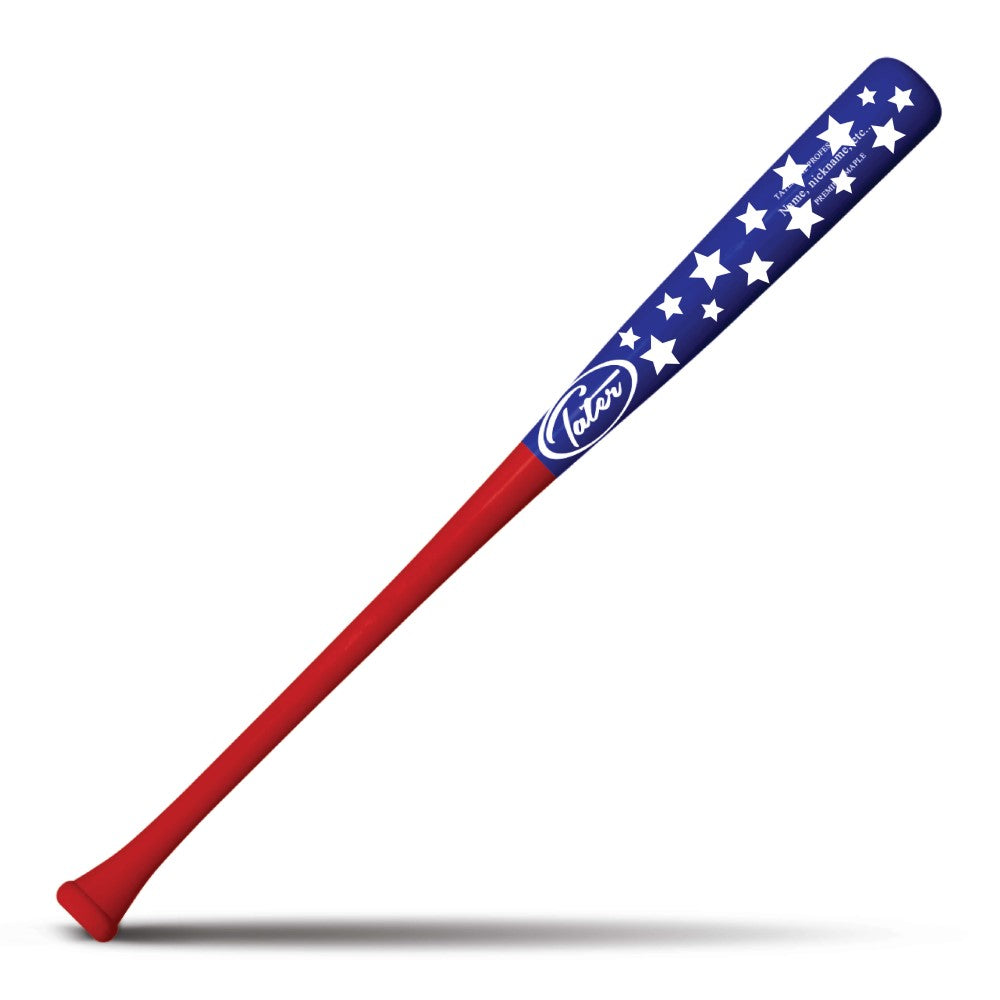 American Flag Baseball bat for sale made for game use or display Personalize with Tater Bats