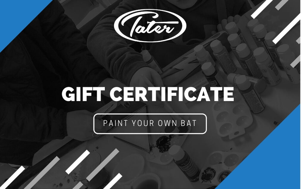 Paint Night Gift Certificate - Tater Bats - Professional Wood Baseball Bats