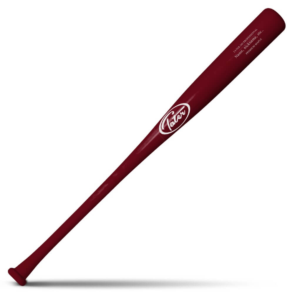 Professional Model 243 Maple Wood Baseball Bat Model Made by Tater BAts