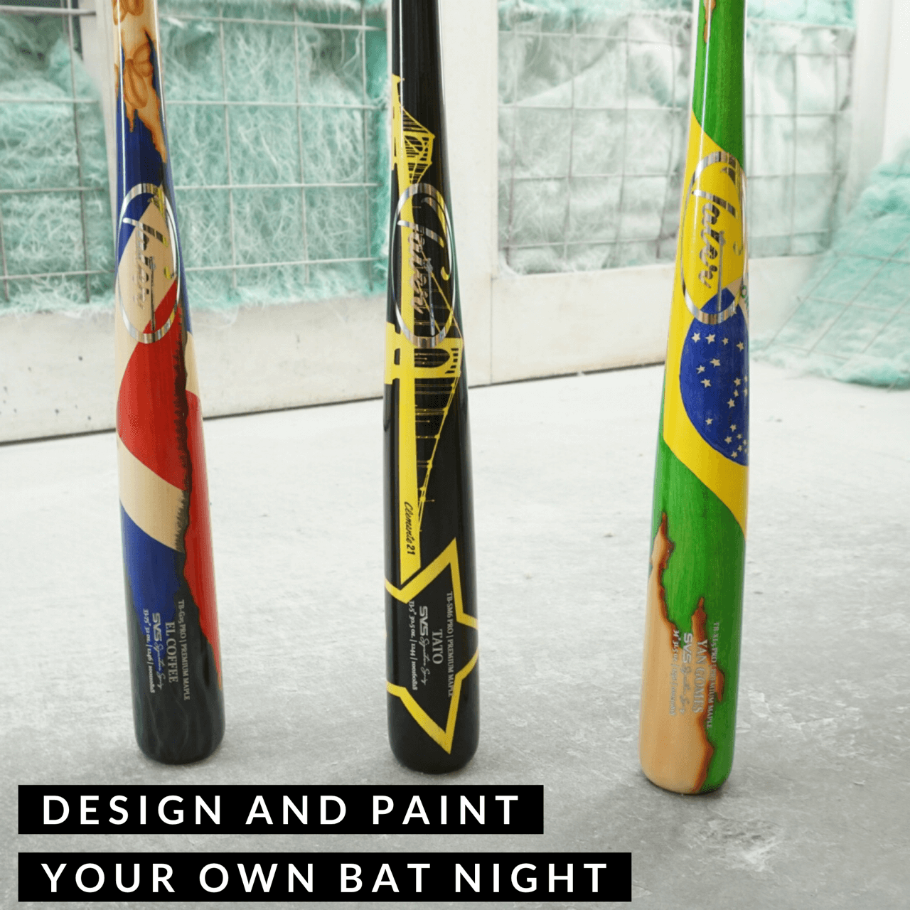PAINT YOUR OWN BAT - Tater Bats - Professional Wood Baseball Bats