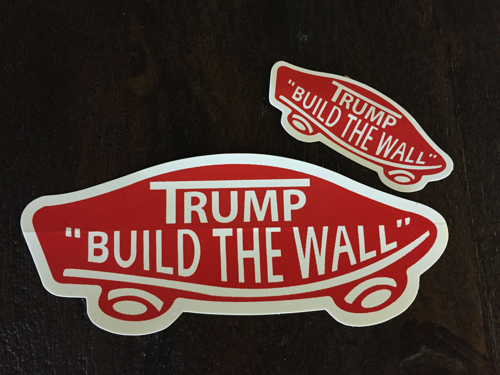 TrumpBuild The Wall Sticker Politically Erect - How do i put up a wall decal
