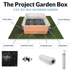 Project Garden Box - complete kit for a DIY sub-irrigated wicking self watering garden