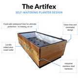 The Artifex 2'x2' Self-Watering Planter