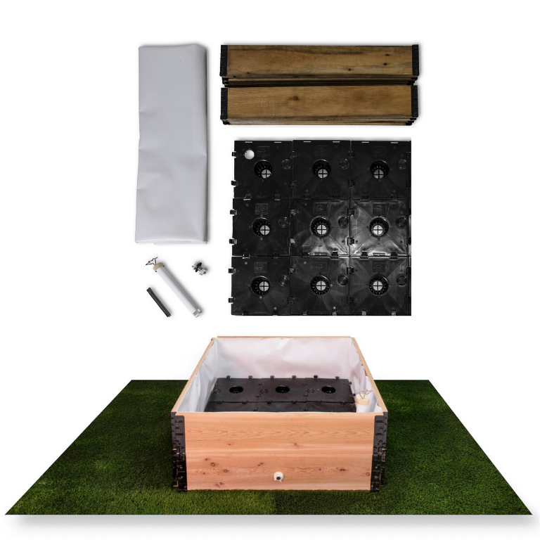 Project Garden Box - 3'x3' DIY Self-Watering Garden Kit