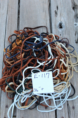 Leather laces, box of lace, handmade leather laces E117