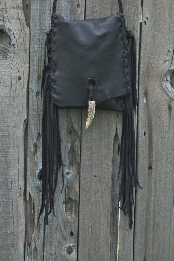 Brown crossbody bag , Leather handbag with fringe , Crossbody phone bag , Leather purse with fringe