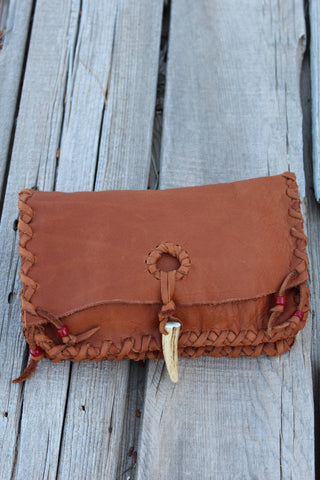 Leather clutch, large leather wallet