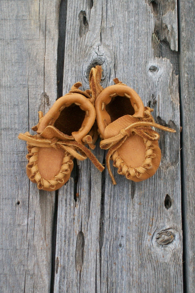 Baby moccasins, leather moccasins, baby gift