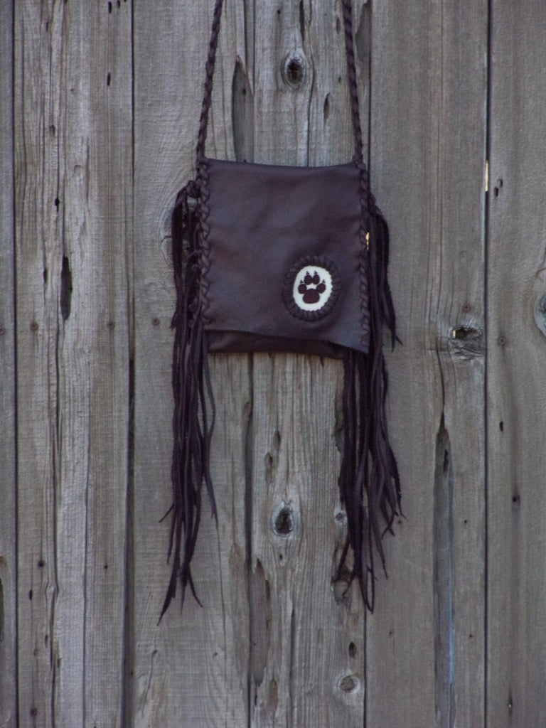 Wolf paw totem handbag, leather bag