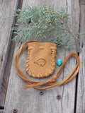 Bear totem medicine bag, small leather pouch