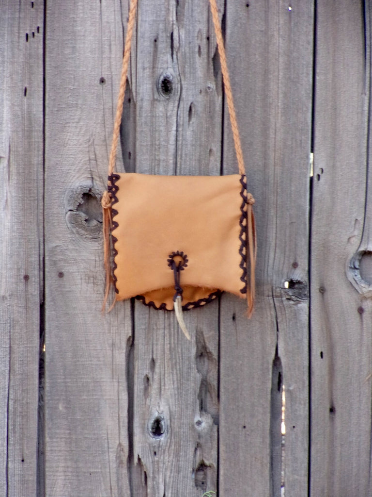 Leather handbag, minimalist bag