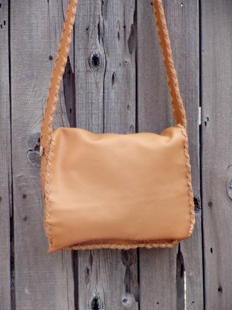 Genuine leather messenger bag , Handmade leather handbag , Leather possibles bag