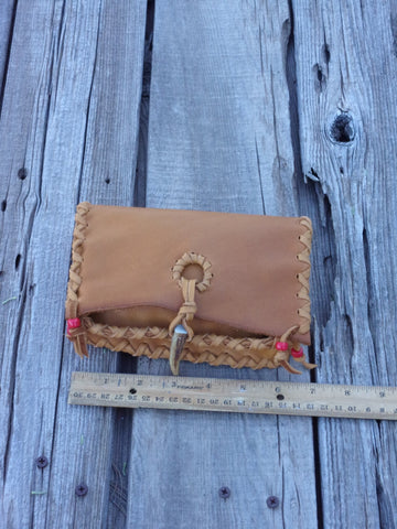 Leather wallet, soft leather clutch