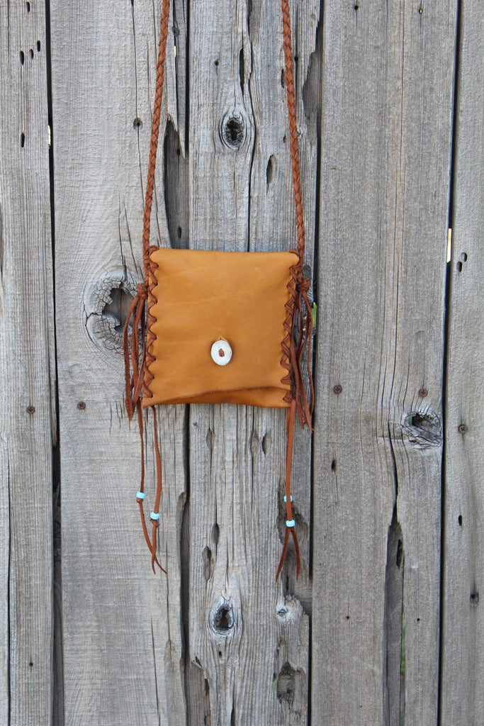 Leather crossbody handbag, simple leather purse