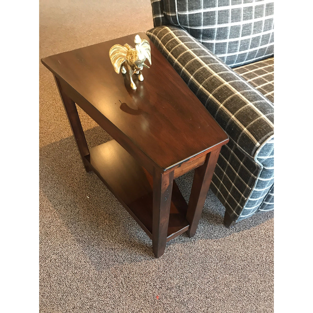 Cherry Wedge End Table