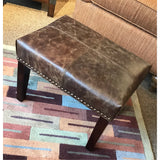 Small Leather Ottoman