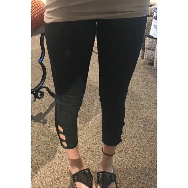 Gray Tie Leggings