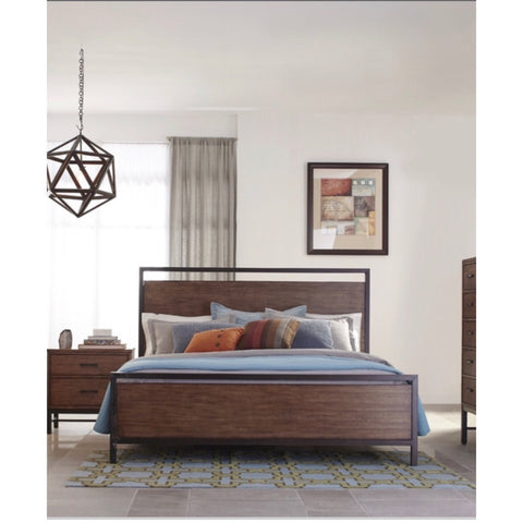 Contemporary Queen Panel Bed
