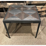 Geometric Top End Table