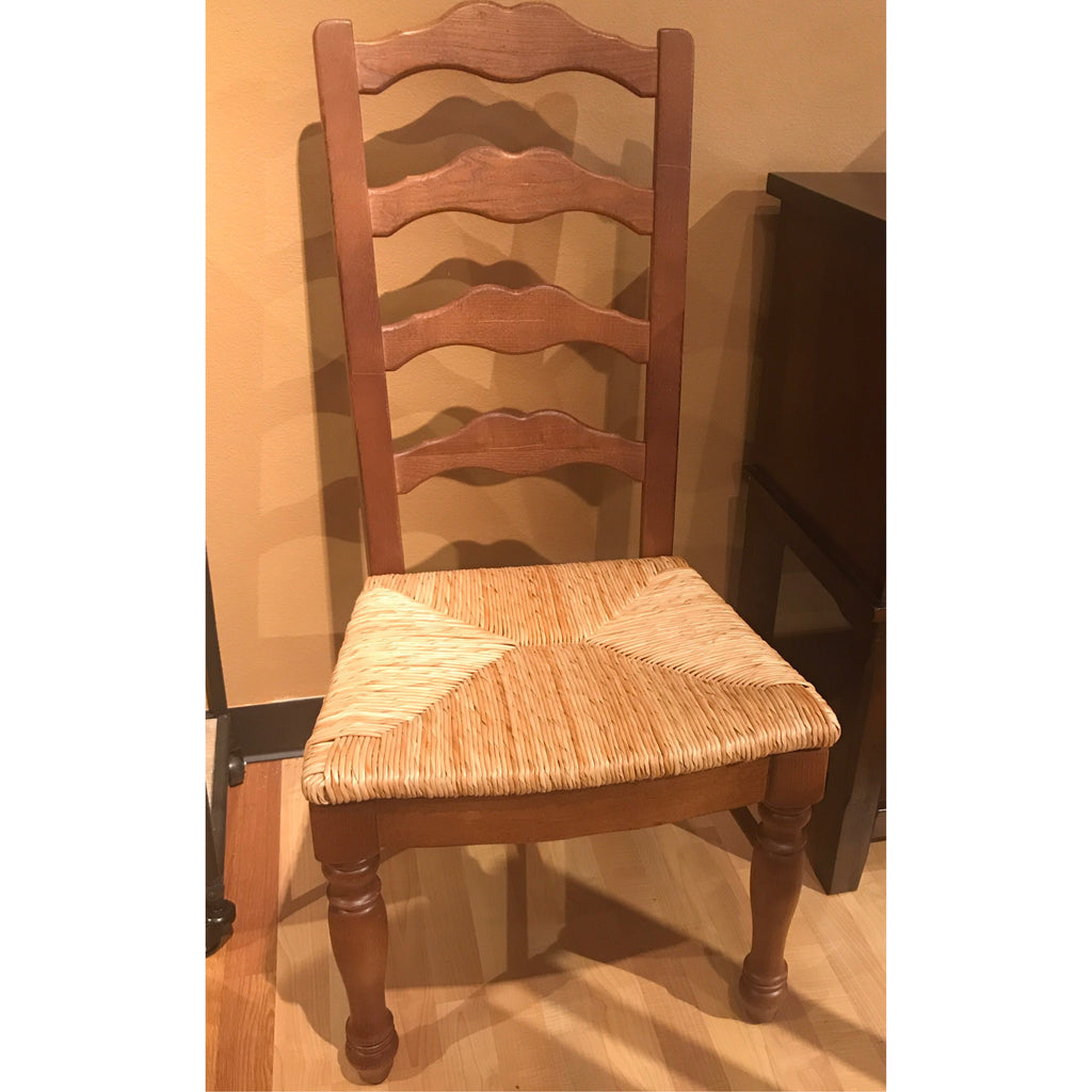 Dining Chair With Rush Seats