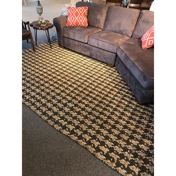 Houndstooth Check Area Rug