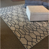 Gray Patterned Area Rug
