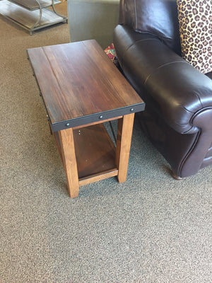 Rustic Chairside Table
