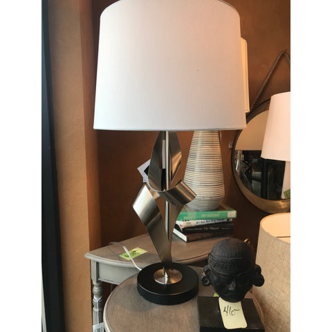 Brushed Nickel Ribbon Lamp