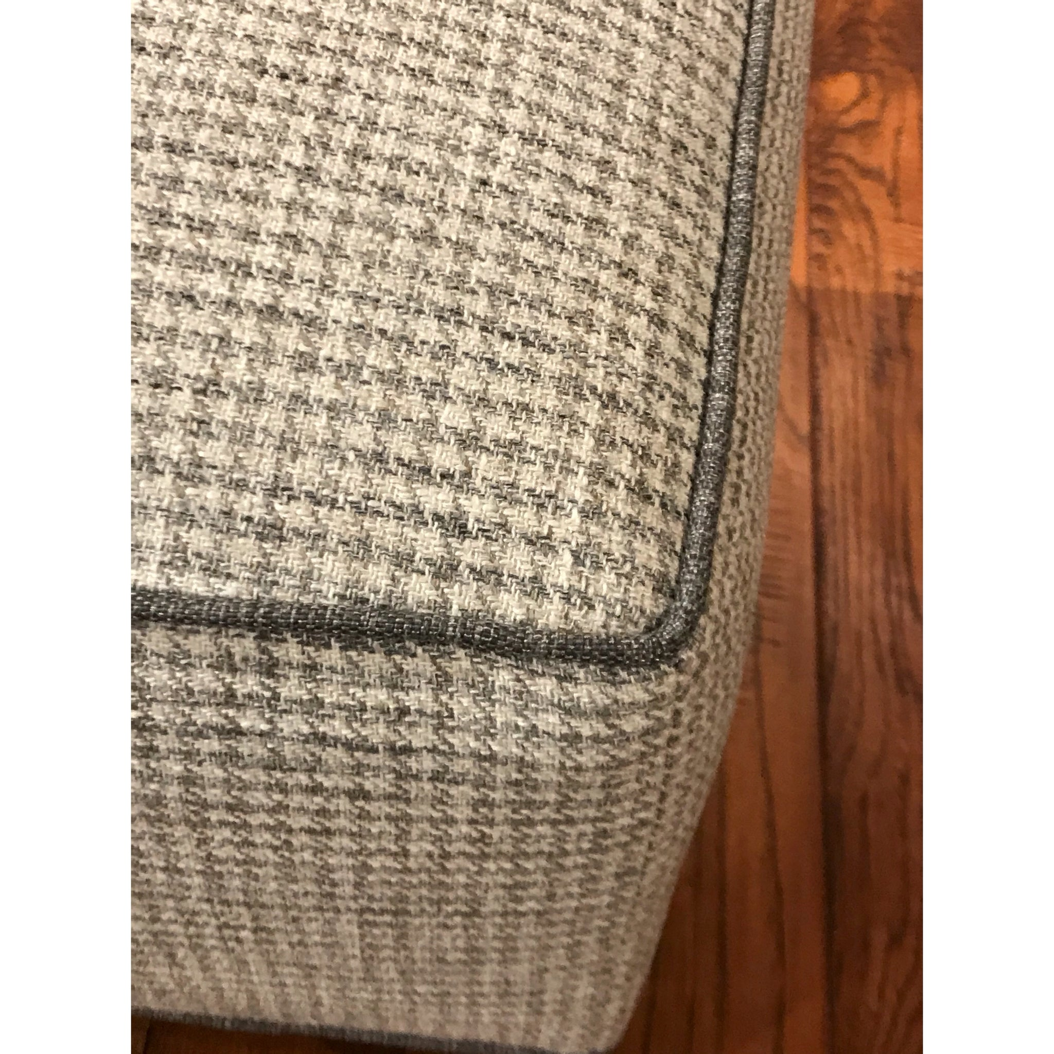 Houndstooth Check Cube Ottoman