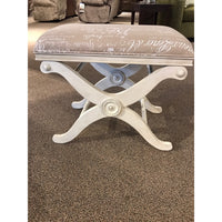 French Script Fabric Bench