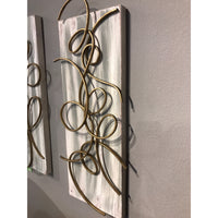 Canvas & Metal Wall Decor B