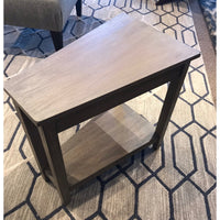 Gray Wedge End Table