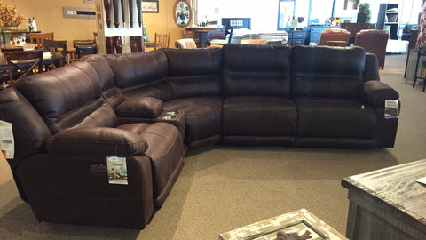 Microfiber Reclining Sectional