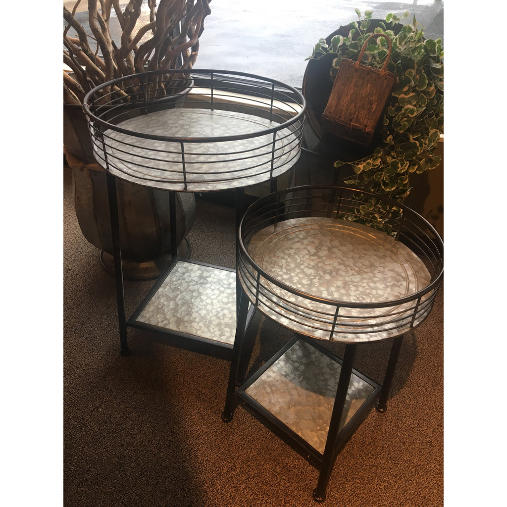 Metal Tray Table Set