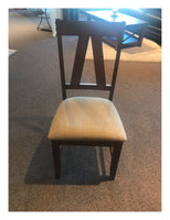 Dining Chair with Metal Accents