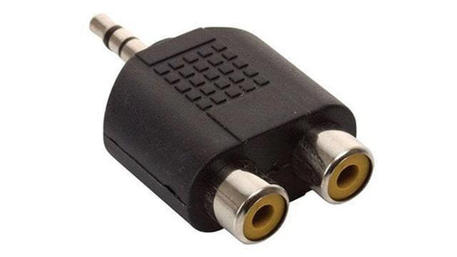 ADAPTADOR 2 JACKS RCA A PLUG 3.5 mm ESTÉREO