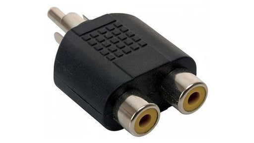 ADAPTADOR DE 2 JACKS RCA A PLUG RCA -  - MICROSIDE TECHNOLOGY